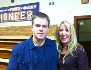 Matt Damon with Kari Matsko